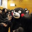 「くまモン」京都府を訪れ震災支援の感謝伝える