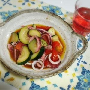 イカと夏野菜の炒め煮
