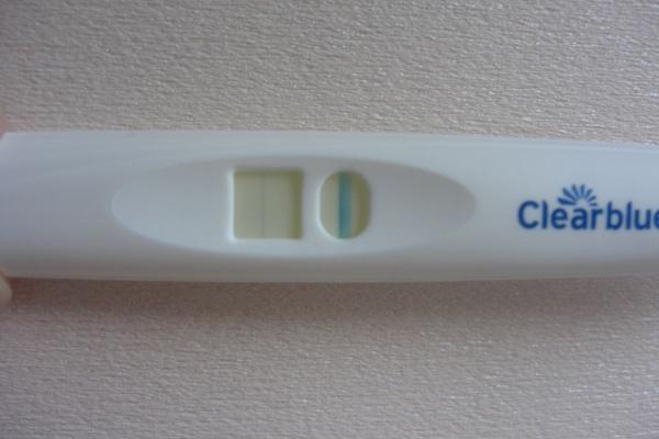 妊娠していた クリアブルー 細い線