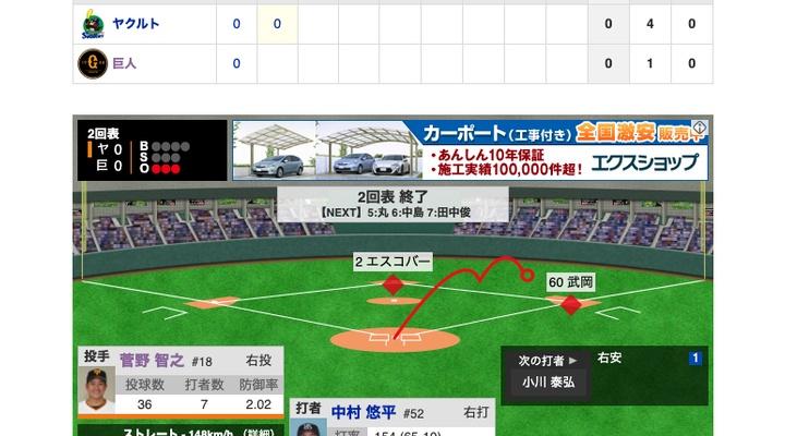 【動画】<巨人×ヤクルト 21回戦> ライト松原、レーザービーム!!【巨0-0ヤ】