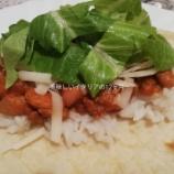『子供にも人気のお豆料理チリコンカルネ!たまにはメキシカンでブリトー!』の画像