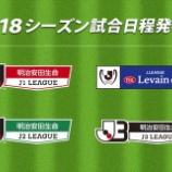 『Jリーグ25周年 2018シーズンの日程が発表!!』の画像