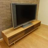 『丸亀市にクワヤのスイートTVボードとリクライニングソファの納品』の画像