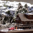 『FUJIIさんのジオラマ③「冬の山荘」』の画像