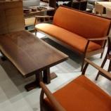 『飛騨高山SWINGよりブラックウォールナット材一枚板仕様のセンターテーブルが入荷』の画像