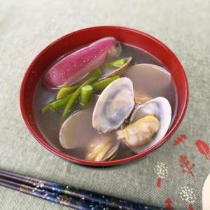 炒めて作る♪あさりとニンニクの芽の中華スープ