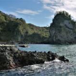 『鷹ノ巣岩 碁盤島 福浦灯台』の画像