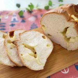 上から溢れる♪チーズたっぷりパン