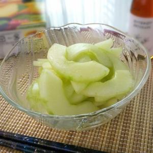 旬の郷土野菜を頂きます♪加賀太きゅうりの中華和え
