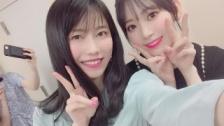 AKB48横山由依、IZ*ONE宮脇咲良との2ショット公開 & 浅井七海、カン・ヘウォンとの2ショット公開
