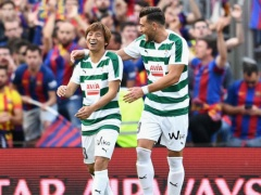 【 動画 】乾貴士がバルセロナからカンプ・ノウで2ゴール!チームは4失点でバルサに敗北