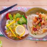 『豚肩ロースの炊き込みご飯と鯛の甘酢あんかけランチ』の画像