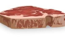 赤身ステーキ(300g2000円)<タレに漬けた安い肉(100g100円)