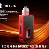 『人気で、めっちゃ!お買い得:RSQ V2 NS 80w squonk Kit NERISSA BF RDA【Red】Hotcig』の画像