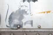 【東京】バンクシー絵か? 港区の防潮扉で見つかる 都が調査へ