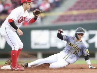 【朗報】阪神・中野「目標にしていた」30盗塁到達 新人では赤星、近本に続き虎3人目 新人王にも望み