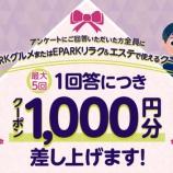 『これはお得!受診歴がある病院に関するアンケートに回答するだけで5,000円相当のグルメ券をゲット!』の画像
