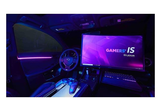 【画像】ゲーミングLEXUS誕生!!助手席でゲームが遊べる