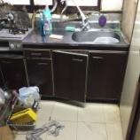 『大阪府門真市 流し台水漏れ修理交換 -シンクの下水漏れ-』の画像