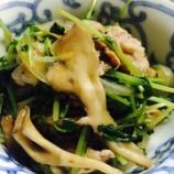 『[10分料理] 豆苗と舞茸と豚肉の秋風味炒め物』の画像