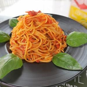 強烈な美味しさ!燻製トマトソーススパゲッティ