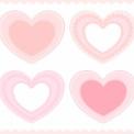 フリー素材 ピンク系装飾ハート