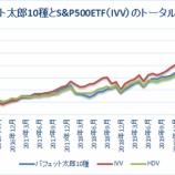 『バフェット太郎10種とS&P500ETFのトータルリターン【62カ月目】』の画像