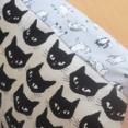 【ねこ柄布で】可愛い布はそのまま活用♪猫柄クッションカバーを作りました☆