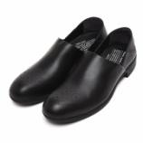 『入荷 | ショセ  TR-010 Travel shoes 【防水革】 スリッポン 【黒】 レディース』の画像