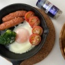 魚焼きグリルで作る!あらびきブラックペパーをきかせたシャキッと食欲のでる朝ごパン