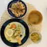夏の終わりにアンチエイジング!鮭のカレークリーム煮- 糖尿病夫の低糖質食(2019年8月26日)