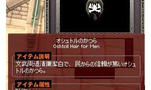 オシュトルのかつら(男性専用じゃ仕方ないね)