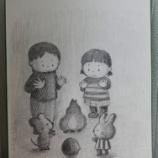 『【鉛筆画】焚き火のイラスト』の画像