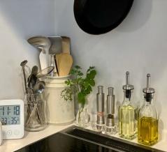 scopeさんのキッチンツールキャニスターと、愛用中の調理道具