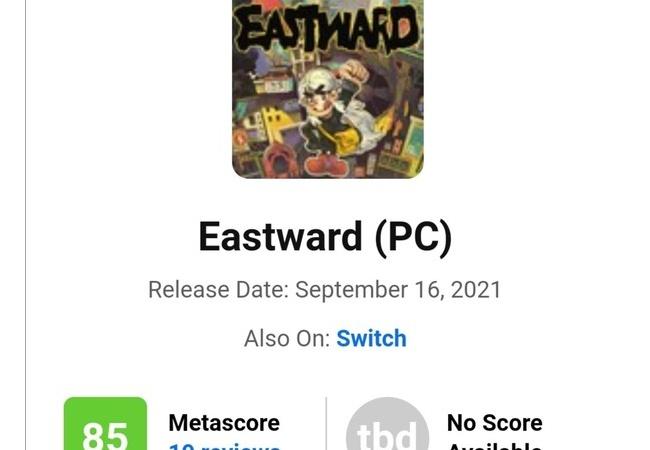 「Eastward」、メタスコア85の神ゲーと判明
