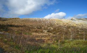 白根山は晩秋から初冬へと移行中