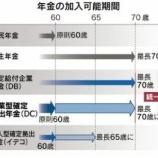 『【朗報】確定拠出年金の加入年齢引き上げ(60歳→70歳)を検討』の画像