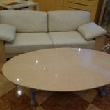 『【2013年ボーナスセール・「私の気になる家具」】バーズアイメープルミガキ仕様の昇降テーブルが完成』の画像
