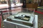青年の家に小中一貫校「(仮称)交野市立交野みらい学園」の模型が展示されてる!