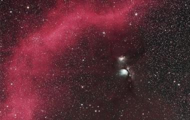 『バーナードループからM78星雲(ウルトラの郷)付近』の画像