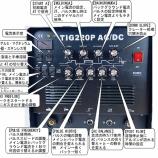 『2020年3月 溶接機導入⑤ TIG溶接機 TIG220P / TIG200・マニュアル/説明書』の画像