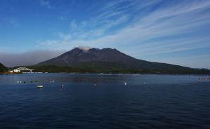 「穏やかに見える」桜島の頂上
