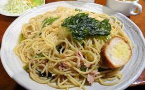 1kg超えのデカ盛りスパゲッティ