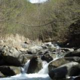 2009.04.15 驚くほど澄んだ大月の真木川、都留の戸沢川、芭蕉月待ノ湯のサムネイル