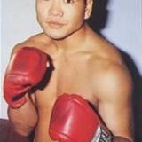 世界チャンピオン「柴田国明」選手とスパーリングの写真