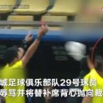 【動画】中国、サッカー元中国代表選手、審判を侮辱し退場通告されると物を投げつける!
