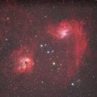 『ぎょしゃ座のまが玉星雲(IC405)&IC410』の画像