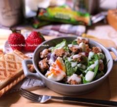 【レシピ】ネイチャーバレーでお手軽♪シーザーサラダ風♡ と 今日の1日からの延長戦の延長戦。