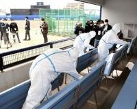 阪神・伊藤隼太が使用したナゴヤ球場を入念消毒