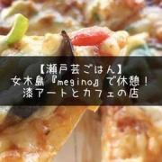 【瀬戸芸ごはん】女木島『Megino』で休憩!漆アートとカフェの店